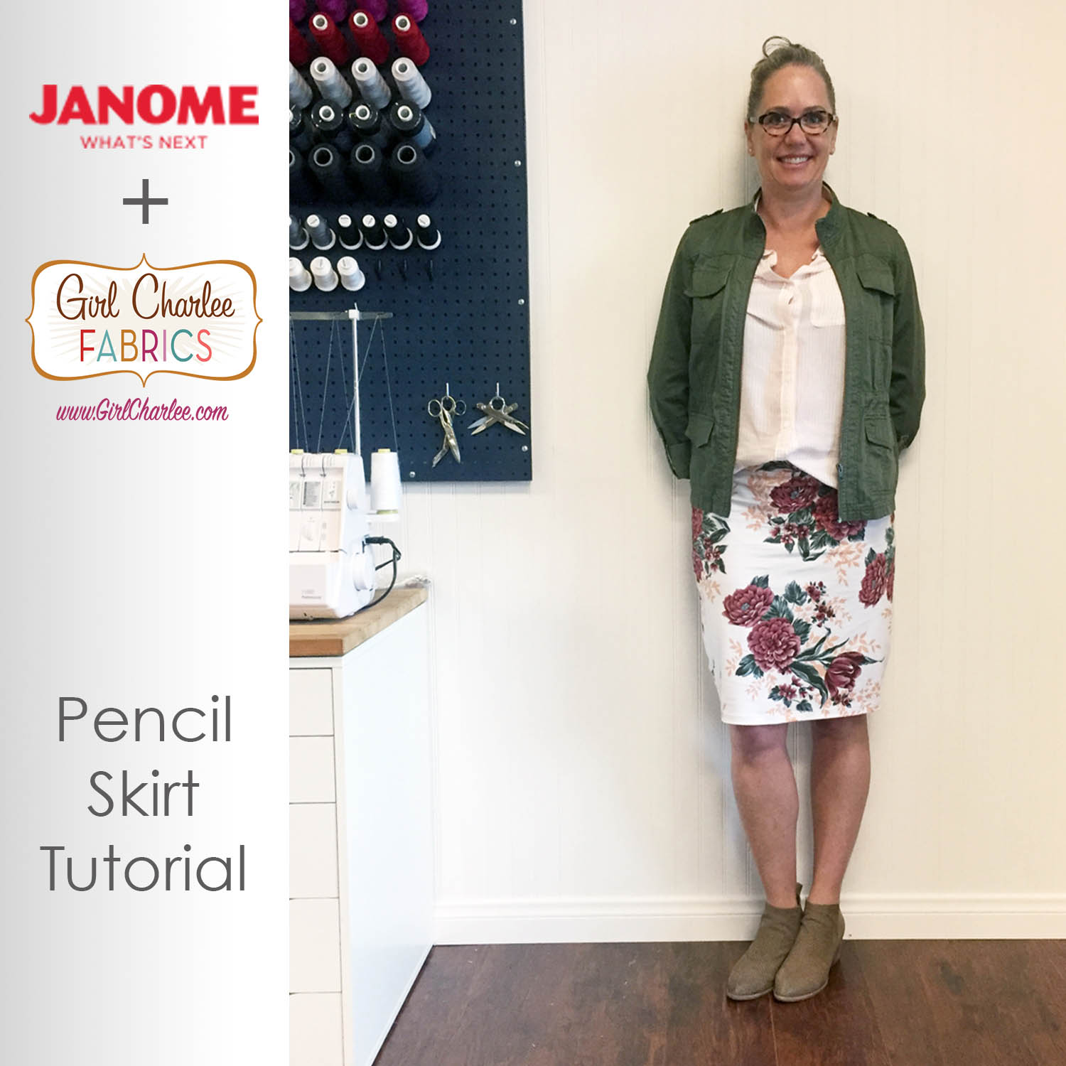 Pencil Skirt With Girl Charlee Knits