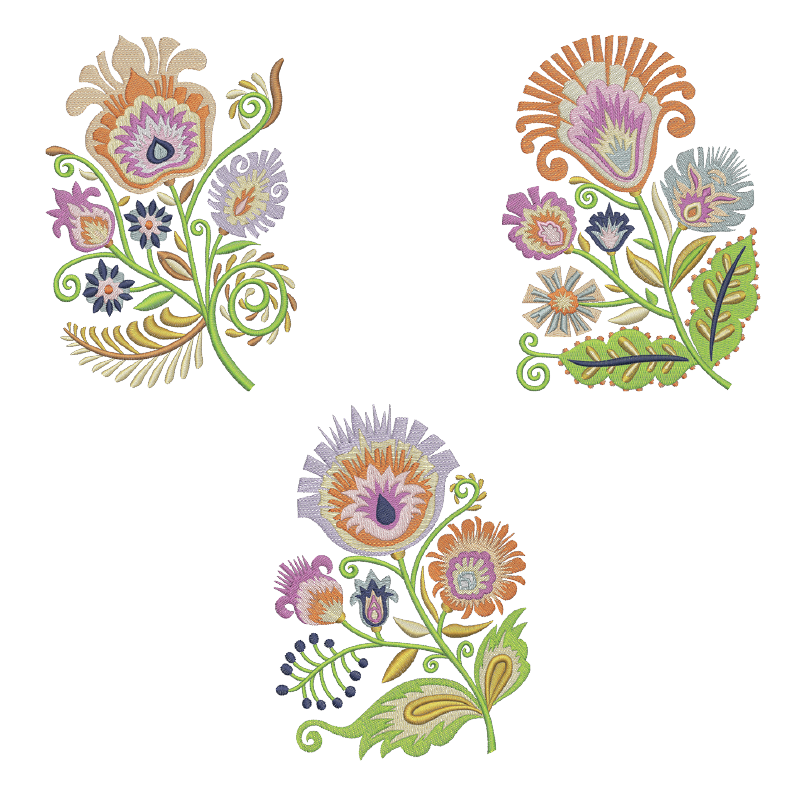 Wycinanki Florals Embroidery Design Collection
