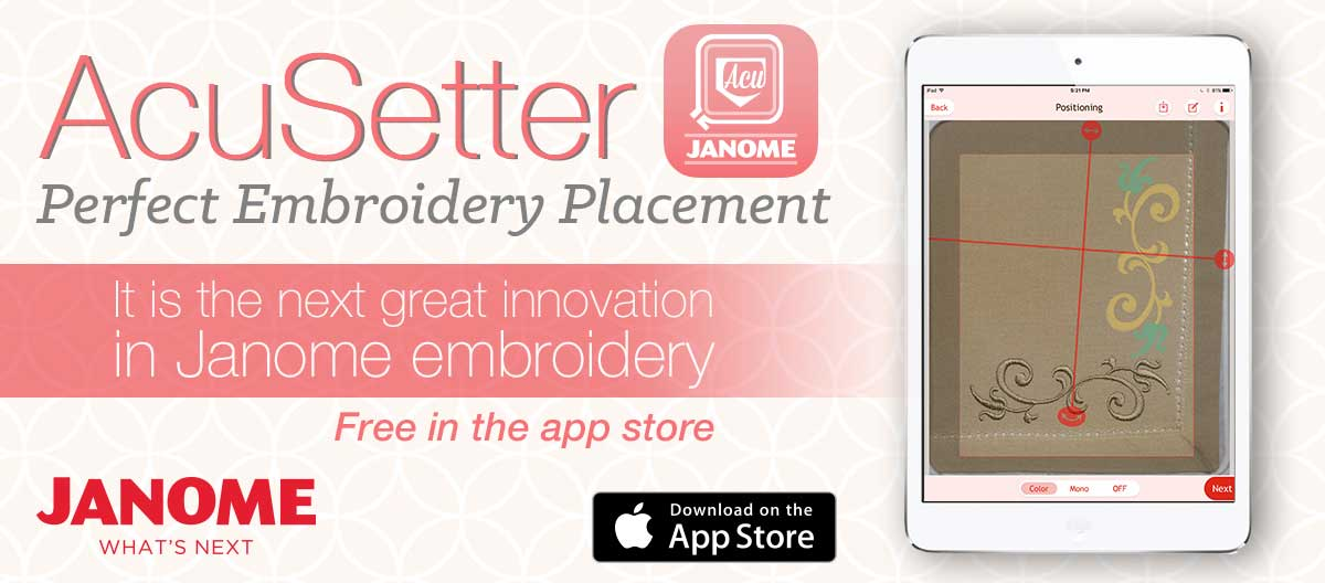 Janome Acusetter App For Perfect Embroidery Placement Pthe Newest