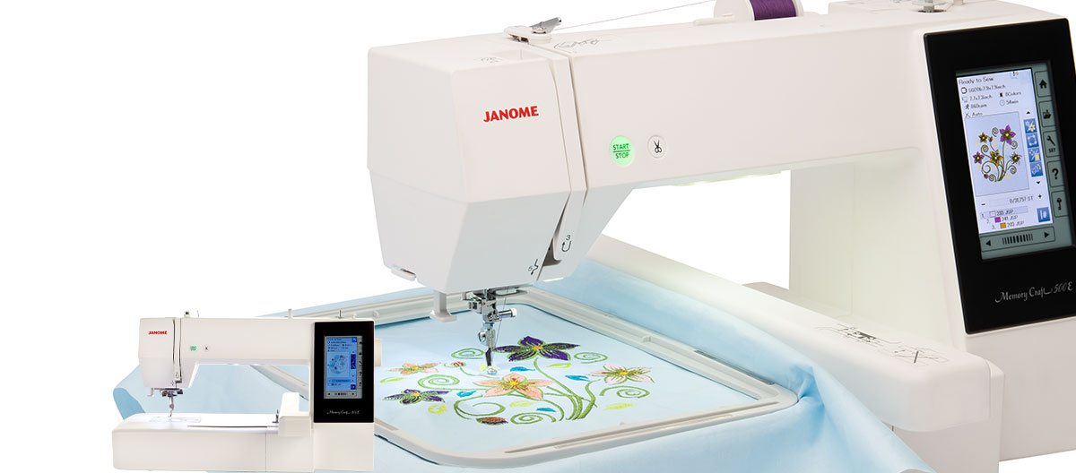 Janome products machines accessories software