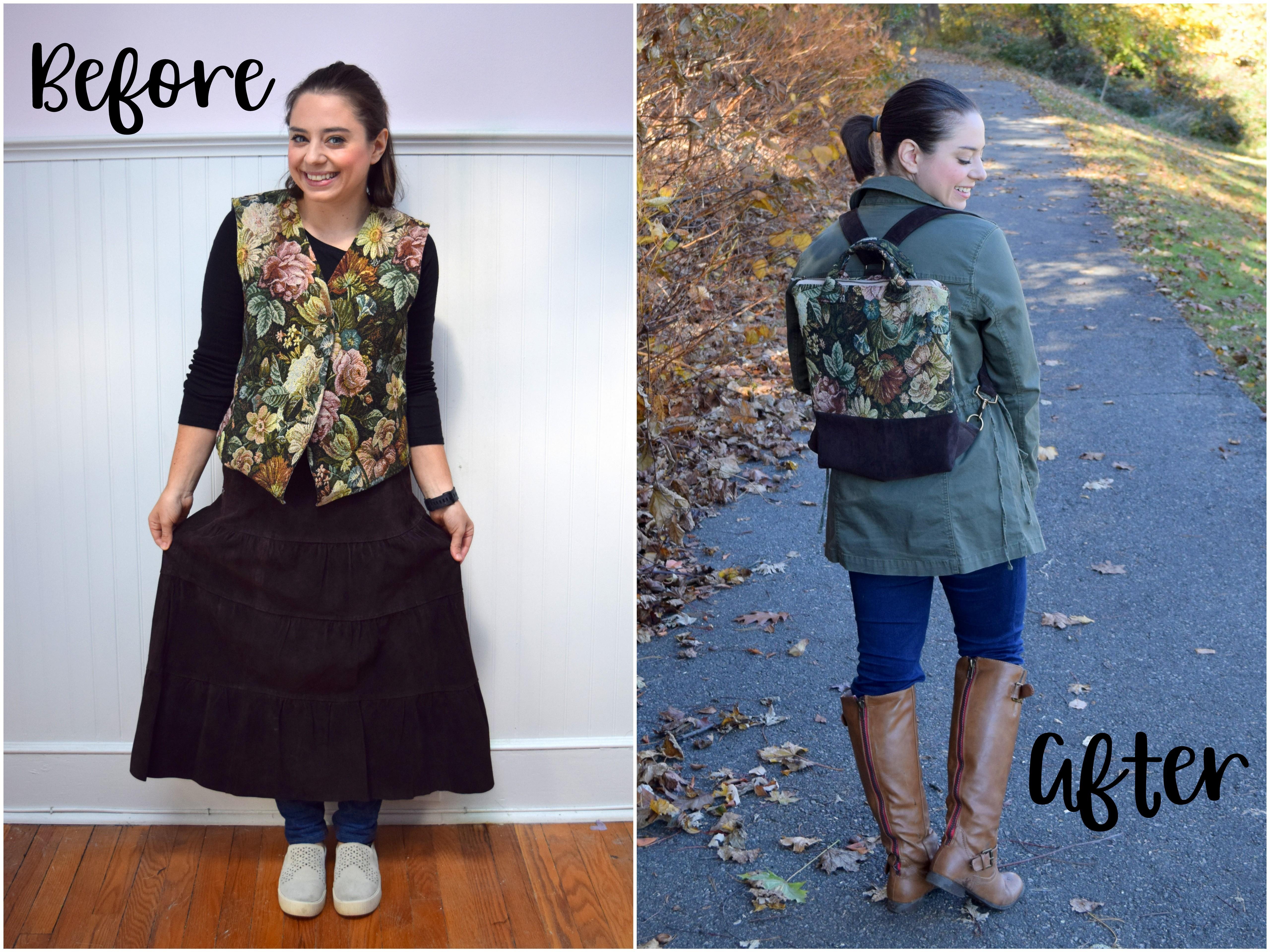 Revashion Vest Skirt Convertible Backpack