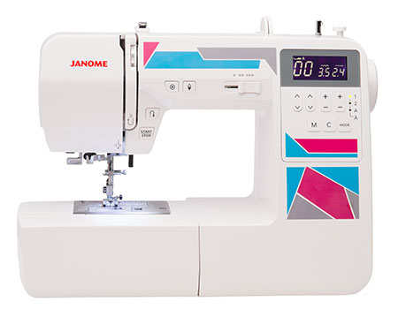 Janome America World's Easiest Sewing Quilting Embroidery Fascinating Starter Sewing Machine Kit